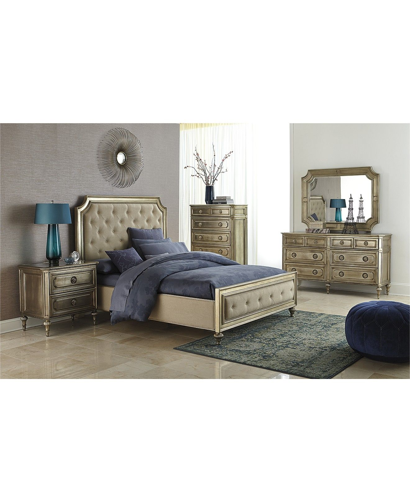 Prosecco Piece Queen Bedroom Furniture Set With Chest Shop All