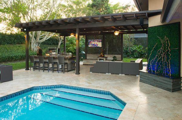 Pin By Gina Williams On Outdoor Ideas Outdoor Pergola Backyard Pool Designs Outdoor Pool Decor