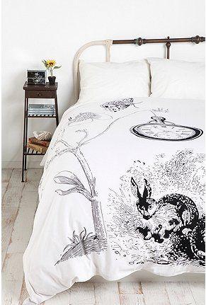 White Rabbits Duvet Cover Alice In Wonderland Bedroom Alice In Wonderland Room Home
