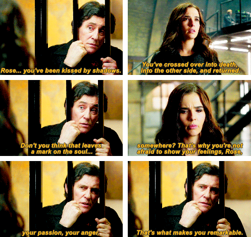 Victor and Rose's conversation before Natalie turns up in Strigoi formation.