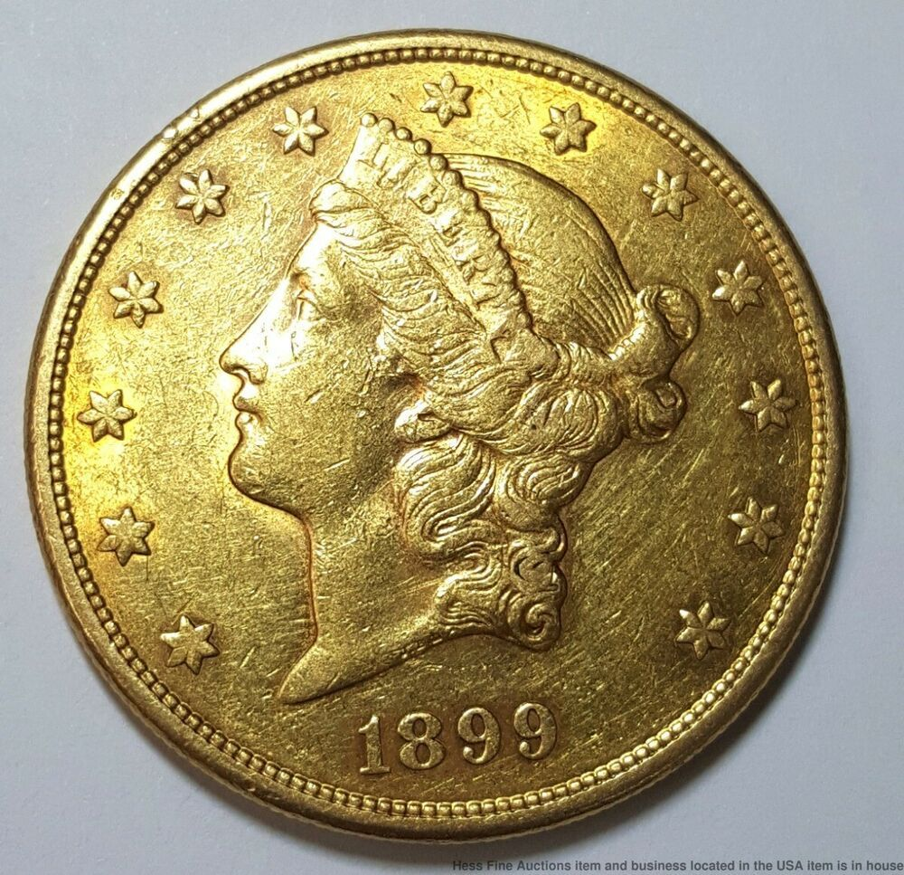 1899 S 20 Coronet Double Eagle United States Gold Twenty Dollar Coin Dollar Coin Coins Dollar