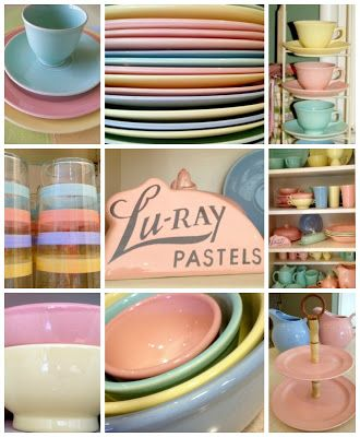 LuRay pastels dinnerware collage Bella Rosa Antiques & LuRay pastels dinnerware collage Bella Rosa Antiques   LuRay ...