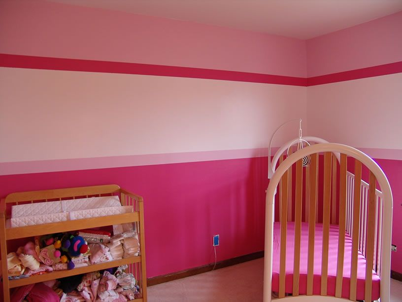 Girls Bedroom Paint Ideas Stripes inspiring baby room painting ideas in multicolor decorations: cute