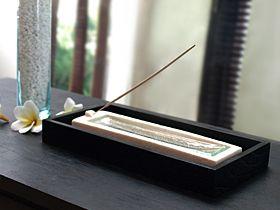 バリ島のストーン×ガラスのおしゃれなお香立ての販売(通販)|バリ雑貨のお店Cocobari
