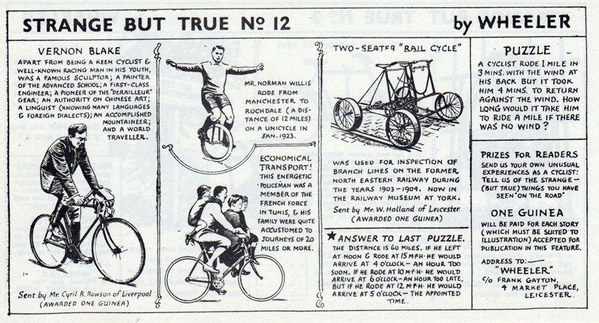 Cycling Humour Strange But True Strange Humor