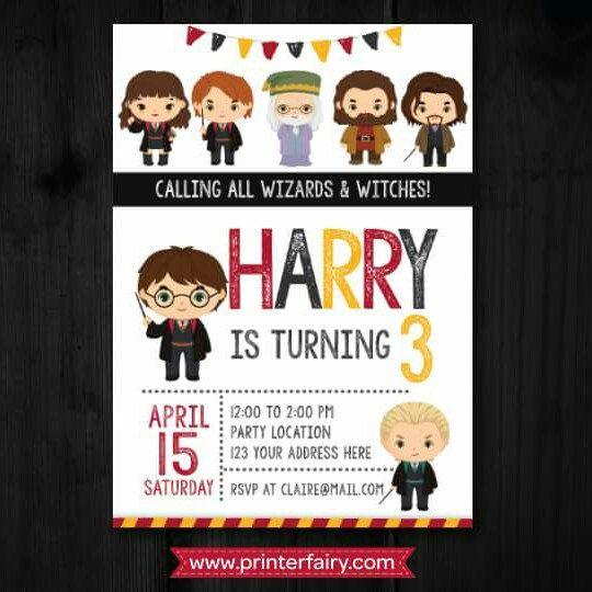 Harry Potter Inspired Invitations Invitaciones De Harry Potter Decoración Harry Potter Decoraciones De Fiesta Harry Potter