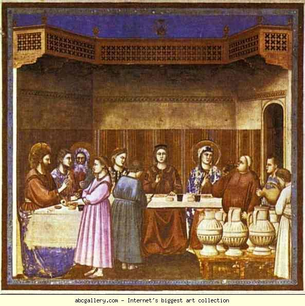 Giotto The Wedding Feast At Cana Olga S Gallery Giotto Free Art Prints Art