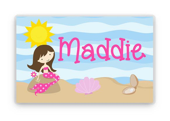 personalized placemat kids placemat mermaid placemat childs