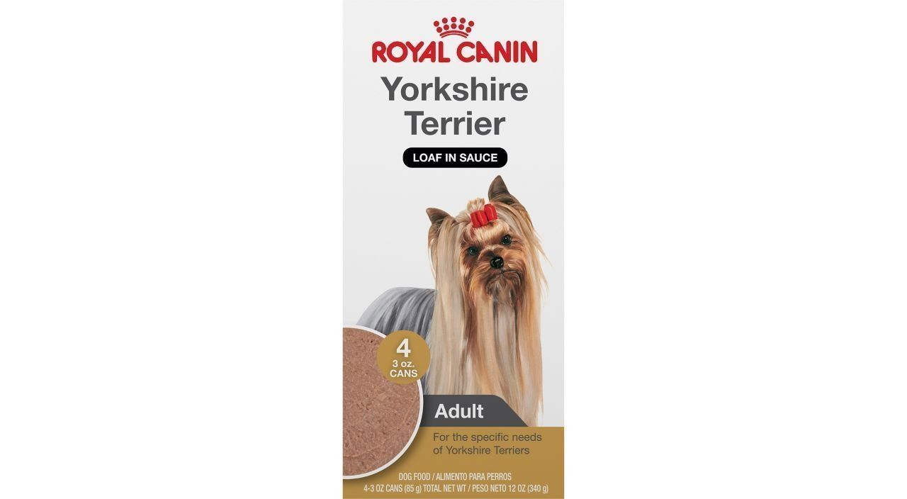 Royal Canin Breed Health Nutrition Yorkshire Terrier Loaf In Sauce Dog Food Pack Of 4 1 3 Oz To View F With Images Royal Canin Dog Food Dog Food Recipes Wet Dog Food