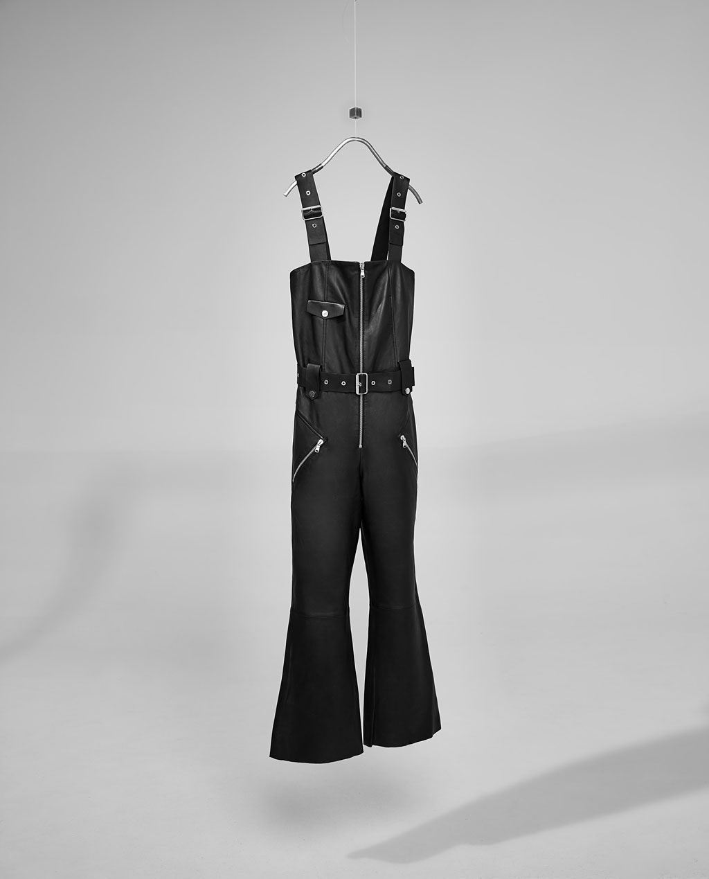 Image 5 of SHORT LEATHER STUDIO JUMPSUIT from Zara