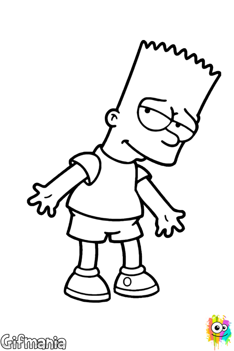 Dibujo de Bart Simpson | The Simpsons | Pinterest