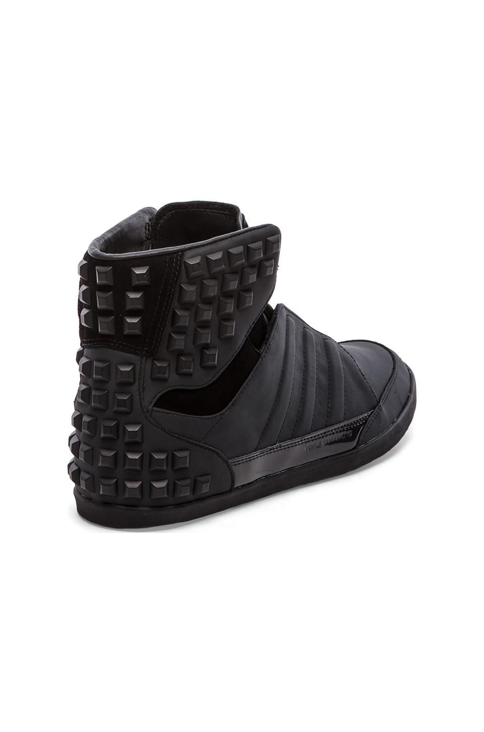 9c5a7be4df8d5 adidas Y-3 Yohji Honja High: Black studded | Shoes in 2019 | Men's ...