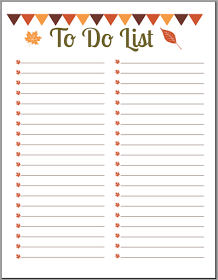 Free Fall To Do List Printables  Free Printable DailyWeekly