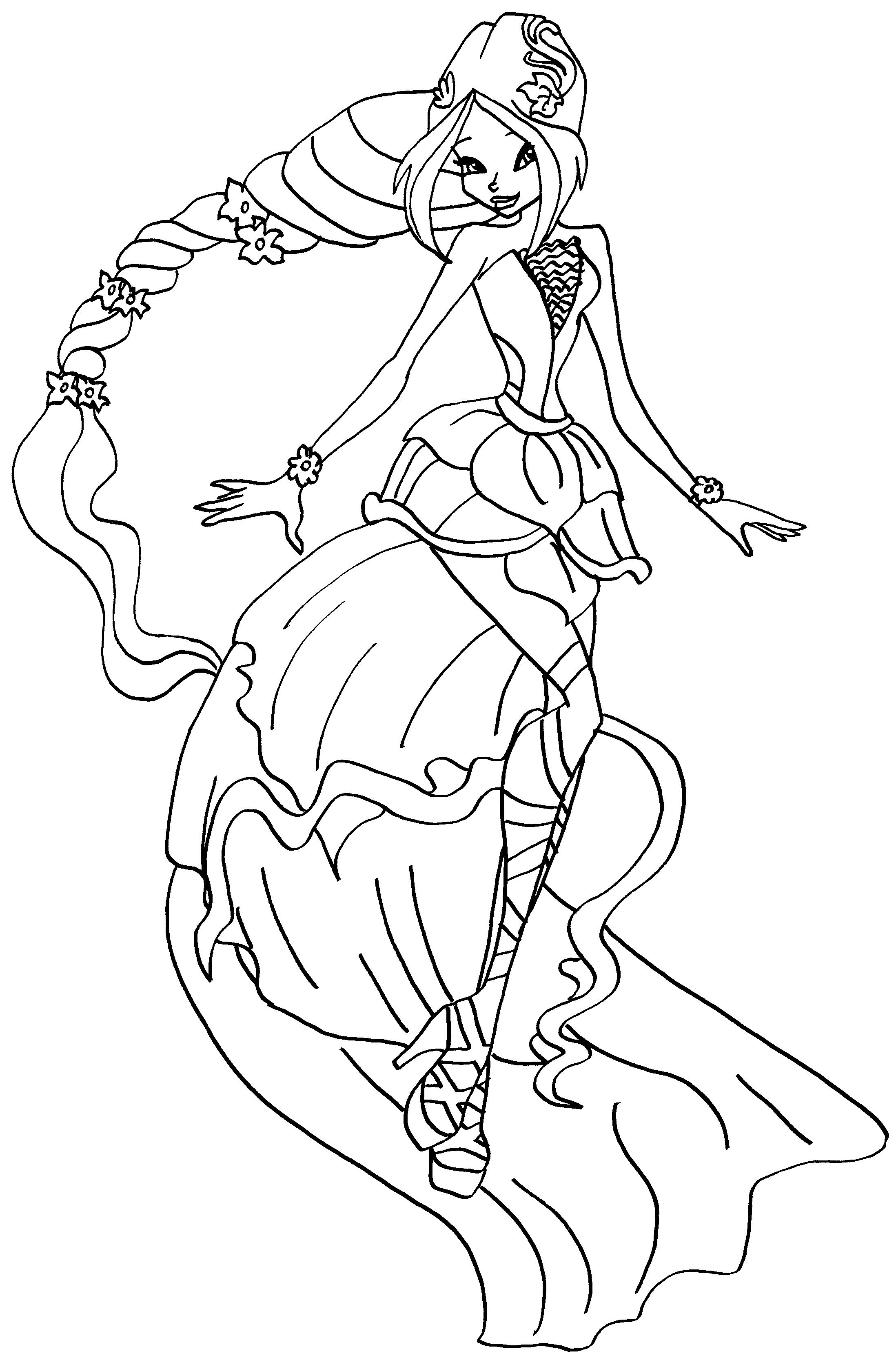 Winx Princess Coloring Pages Winx Princess Coloring Pages