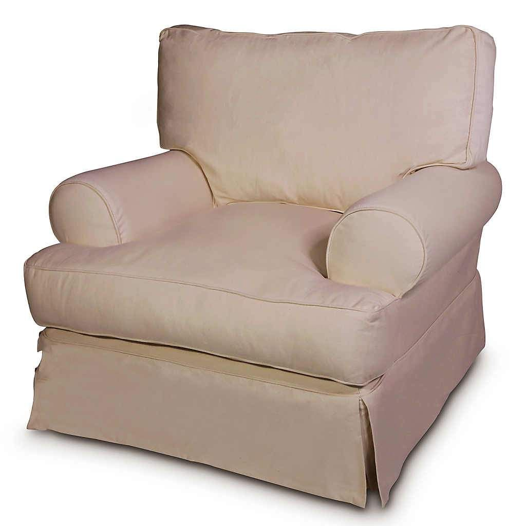 Classic linen swivel glider slipcovers for chairs