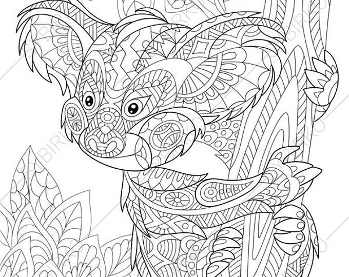 Adult Coloring Pages. Lion. Zentangle Doodle Coloring Book Page for ...