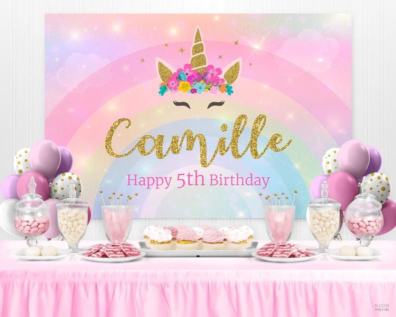 Unicorn Backdrop Unicorn Birthday Unicorn Party Unicorn Banner Party Backdrop Birthday Backdrop Custom Printable Digital Backdrop 1st In 2020 Birthday Backdrop Unicorn Party Unicorn Birthday