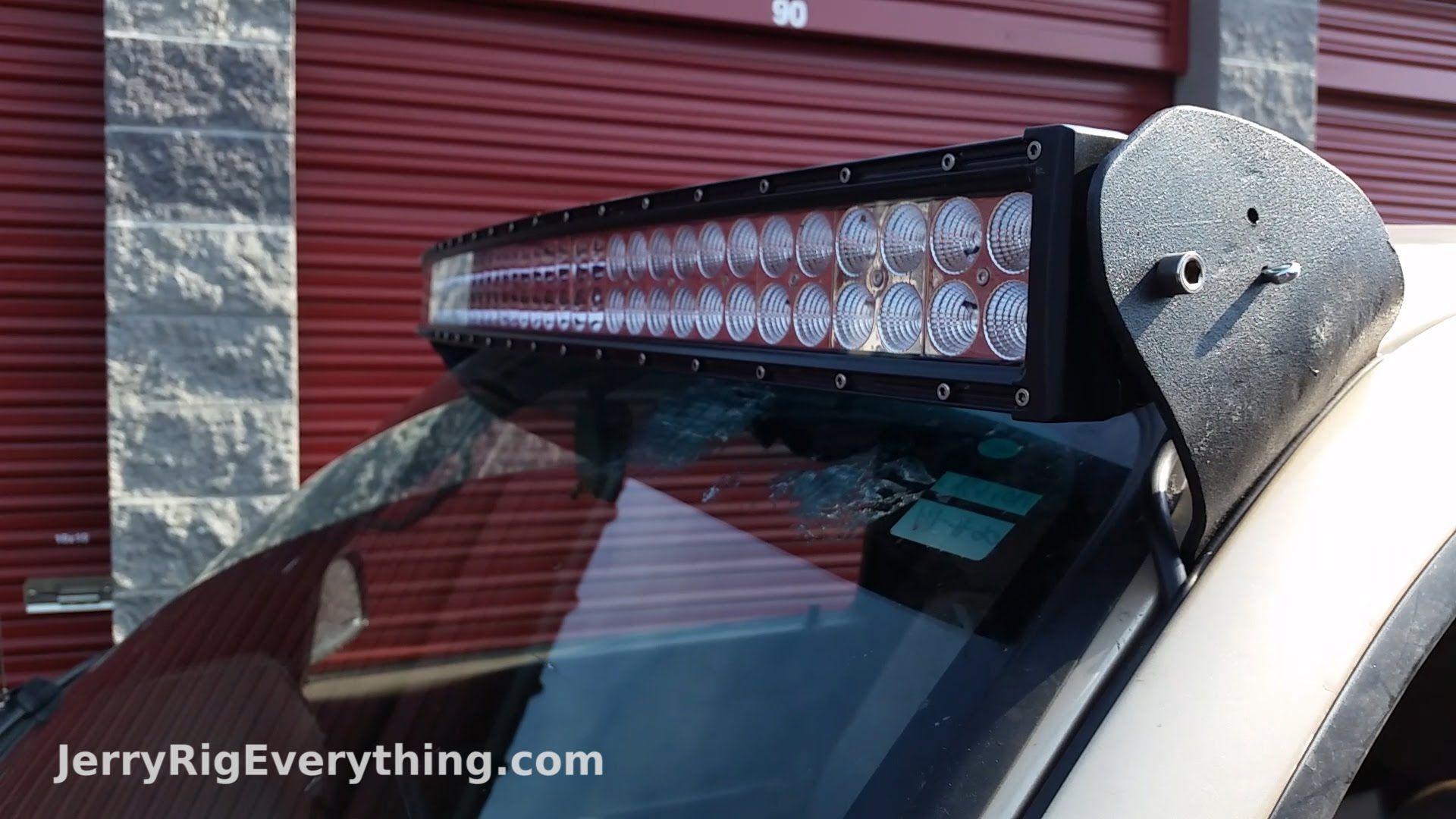 Making Custom Brackets For A 50 Inch Led Light Bar Truck Mount Led Light Bars Led Light Bar Truck Roofing Diy