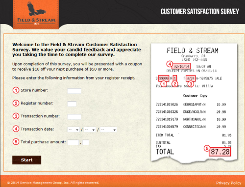 Field  Stream Customer Satisfaction Survey Www