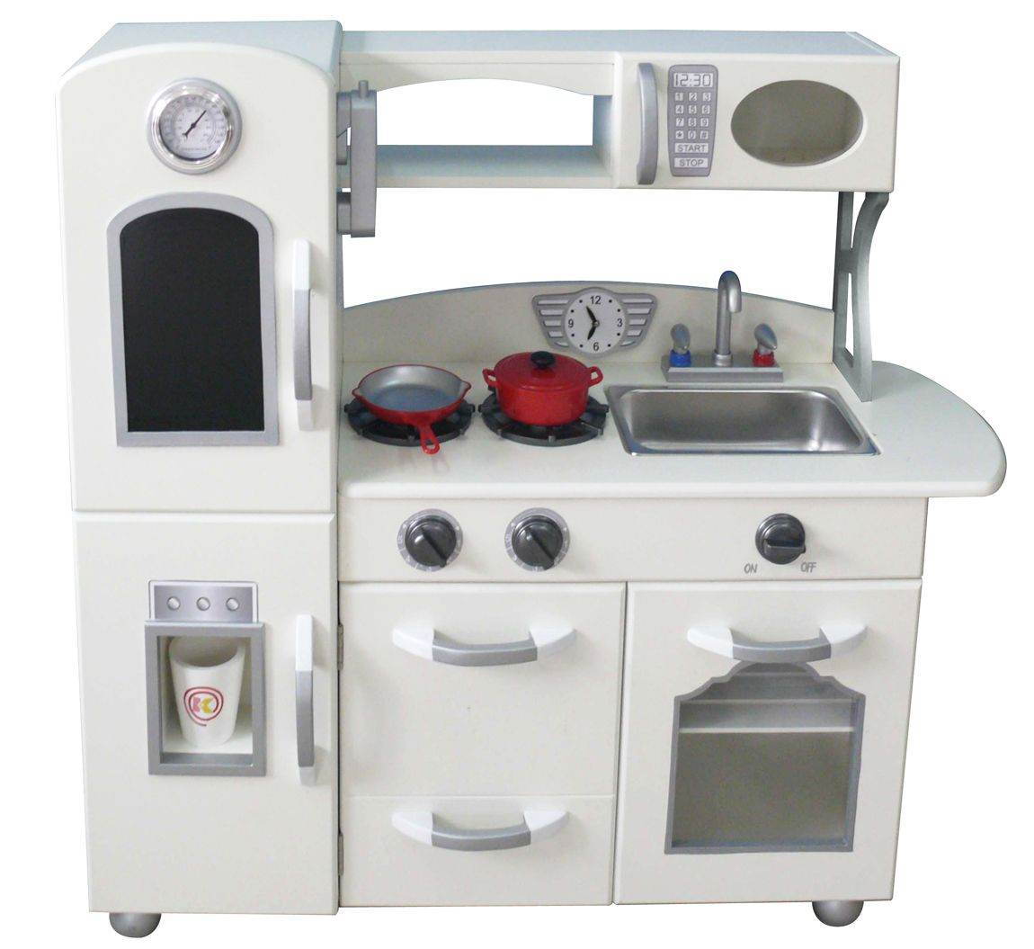 We love the simple design of this toy kitchen, with everything your ...