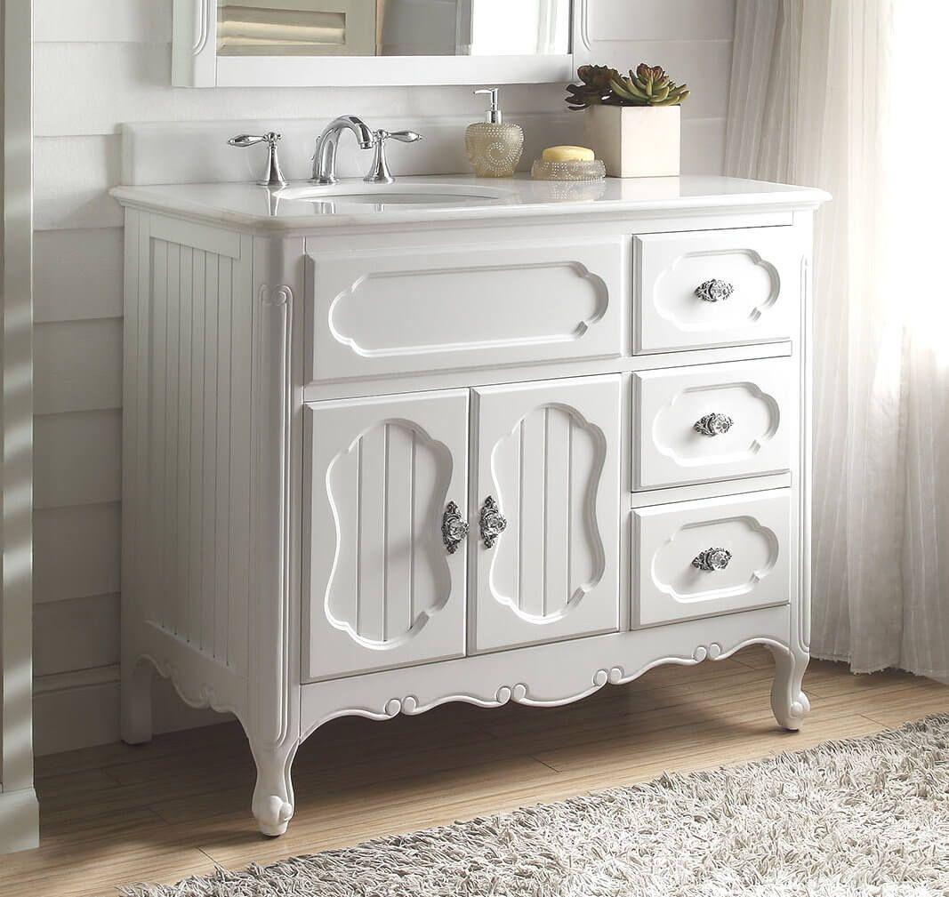 Beautiful white cottage style vanity bathroom beauties - White cottage style bathroom vanities ...