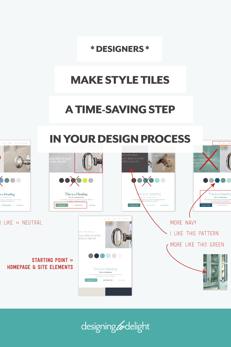 Make Style Tiles A Time Saving Step In Your Web Design Process Designing To Delight Style Tile Design Process Freelance Web Design