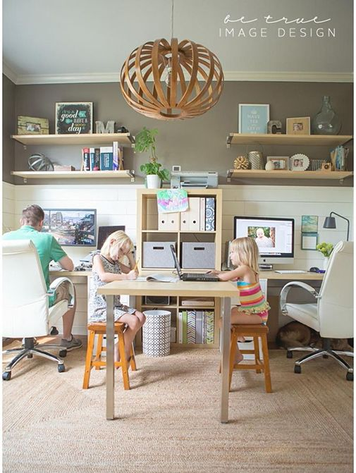 Basement Study Room: 22 Creative Workspace Ideas For Couples