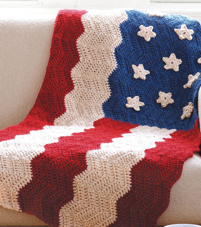 Free Crochet Pattern for Heartland Flag Afghan | Crochet Flag | Get ...