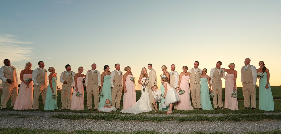 What a breathtaking image of the entire wedding party including the bride and groom in front of a gorgeous sunset.  We're so glad this image was captured by Candice Jones Photography, a premier Nashville wedding photographer.  Click the image for more details. Photo credit: Candice Jones Photography