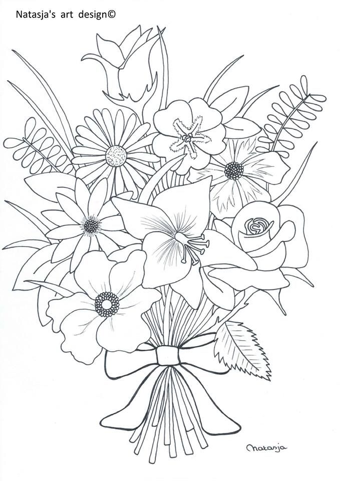 boeket 231 i 231 ekler printable flower coloring pages