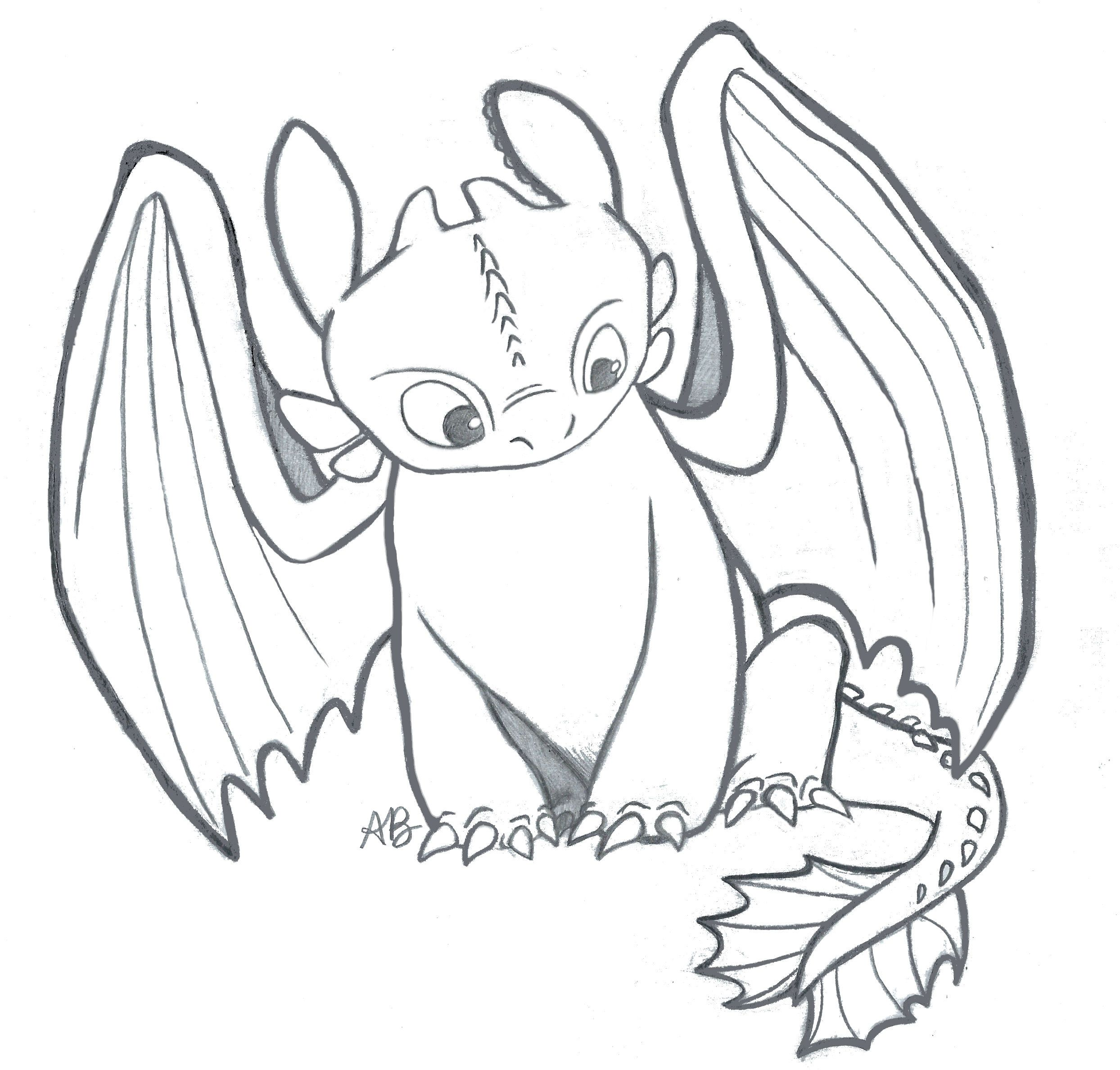 I Drew This Sketch Of Toothless From How To Train Your