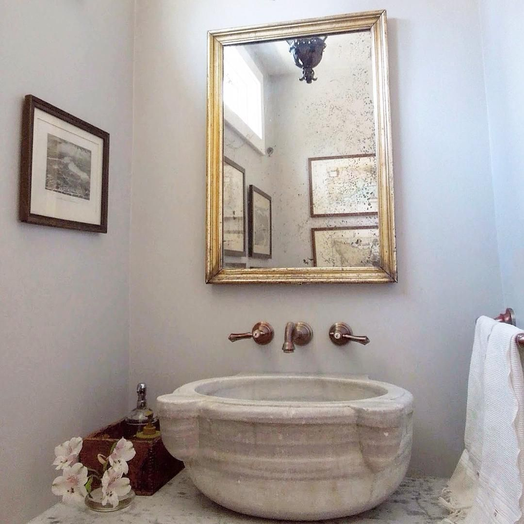 French Bathroom Sink Obsessed With This Reclaimed Turkish Marble Basin As Sink In My
