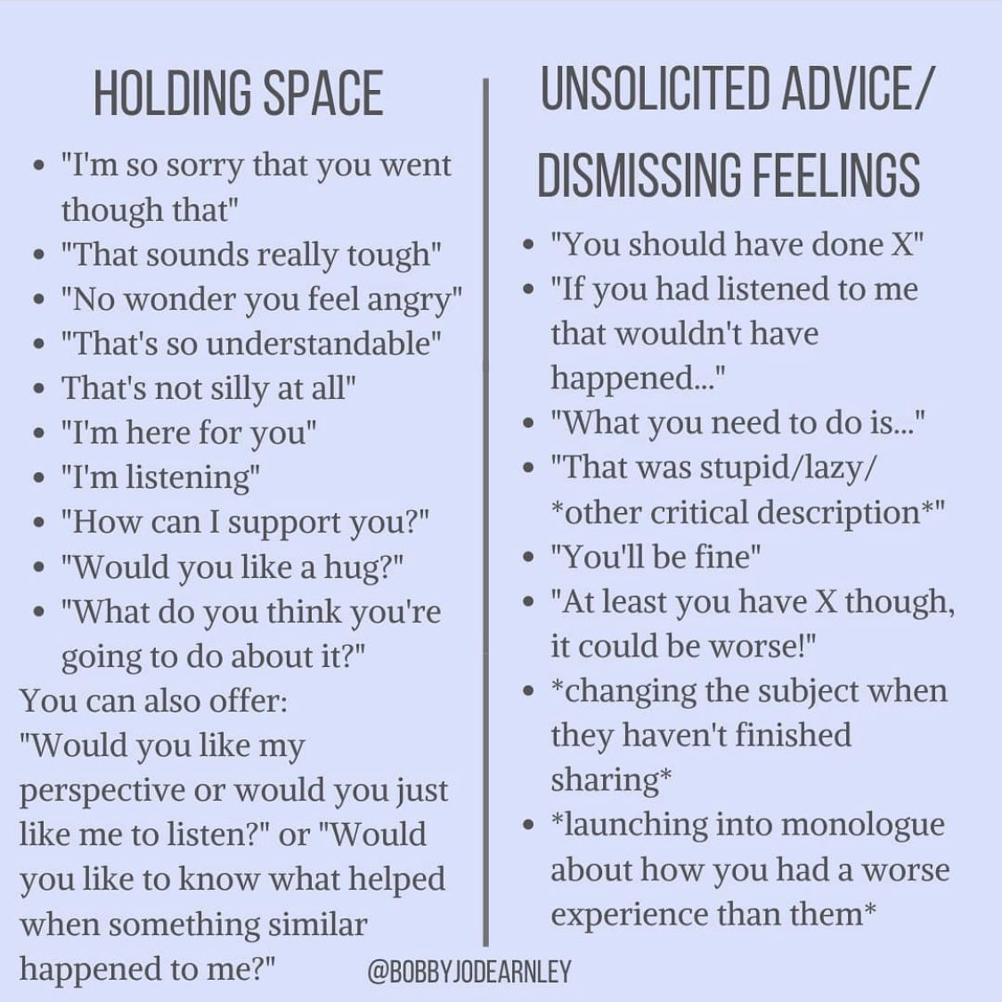 Holding Space In