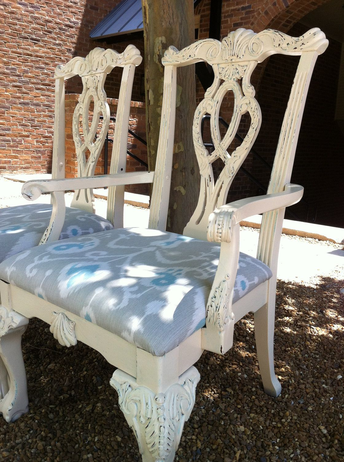 pair of shabby chic accent chairs chippendale pinterest shabby
