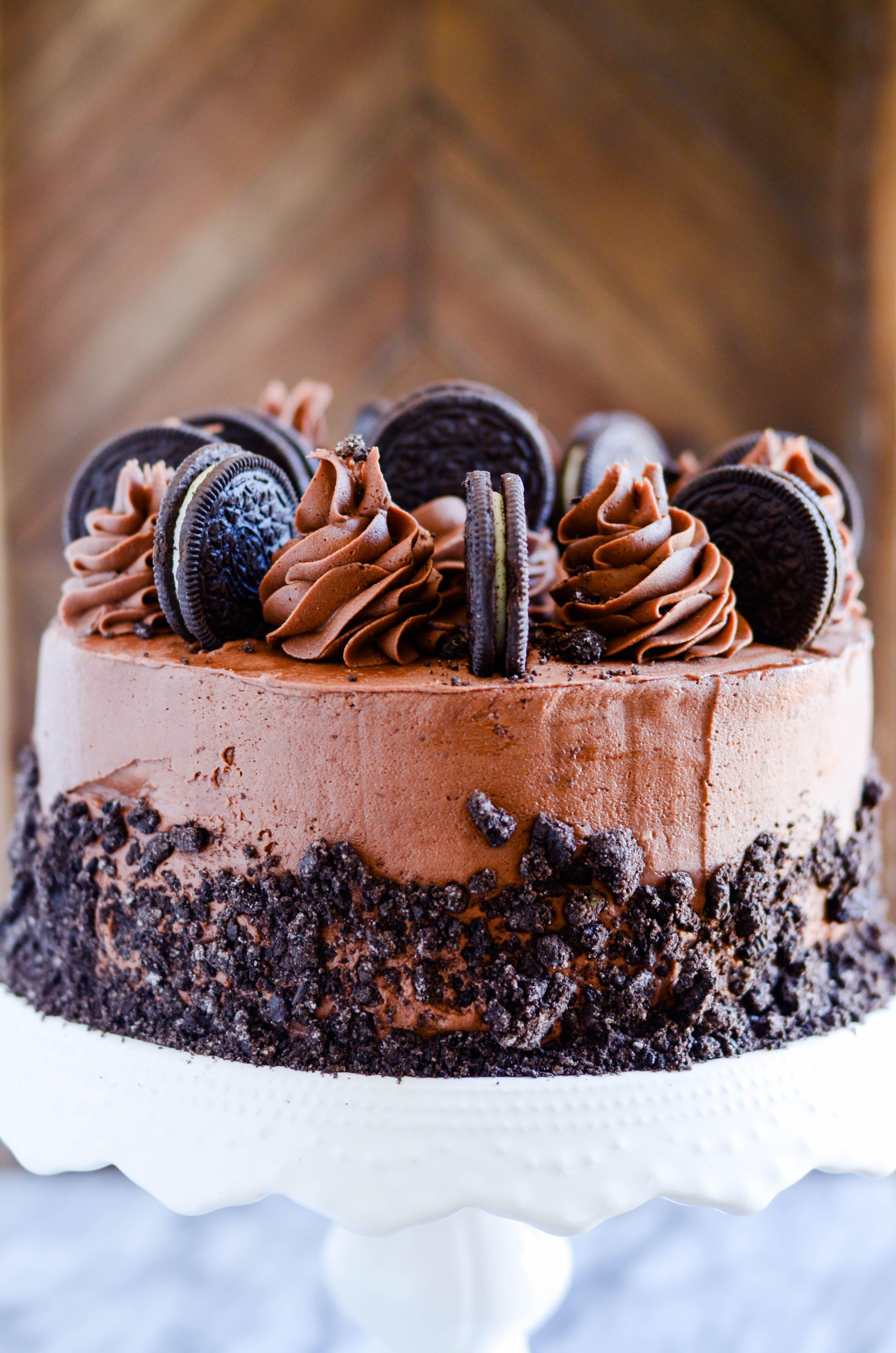 Terrific Cookies Cream Chocolate Layer Cake Recipe Chocolate Oreo Funny Birthday Cards Online Overcheapnameinfo