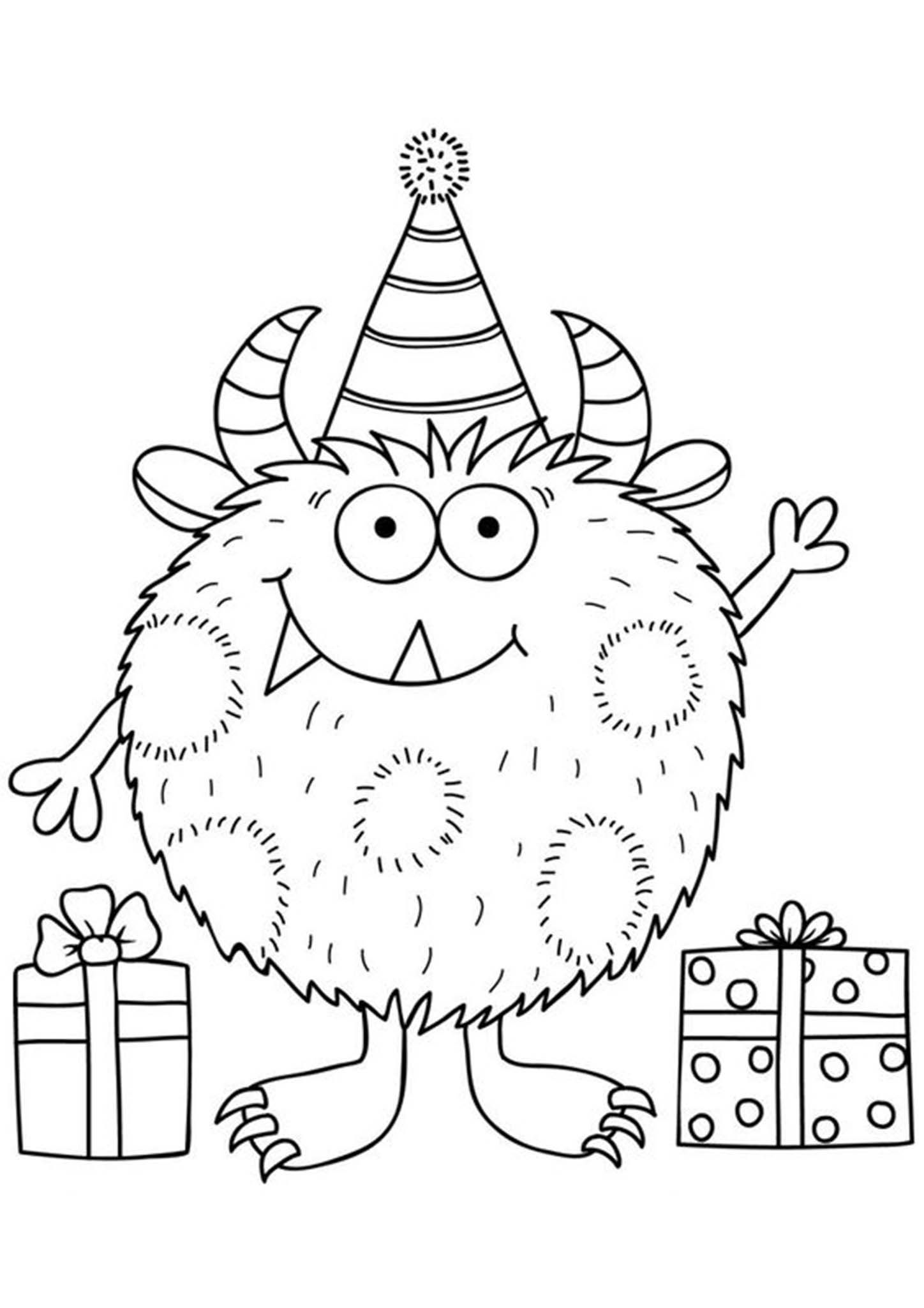 Free Easy To Print Monster Coloring Pages In 2021 Monster Coloring Pages Birthday Coloring Pages Monster Quilt
