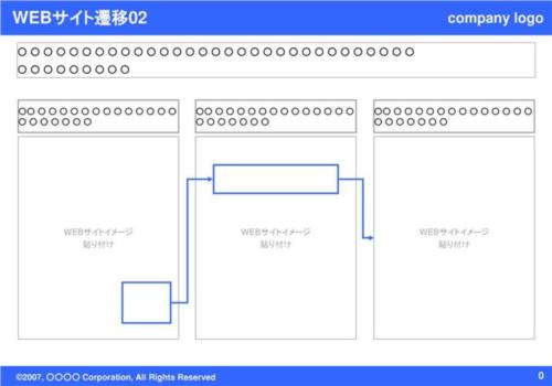 WEBサイト遷移02(Blue)