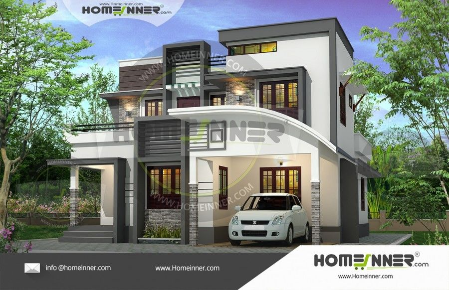 1648 Sq Ft 3 Bedroom Attractive Home Plan Architectural House Plans Kerala House Design Bungalow Design