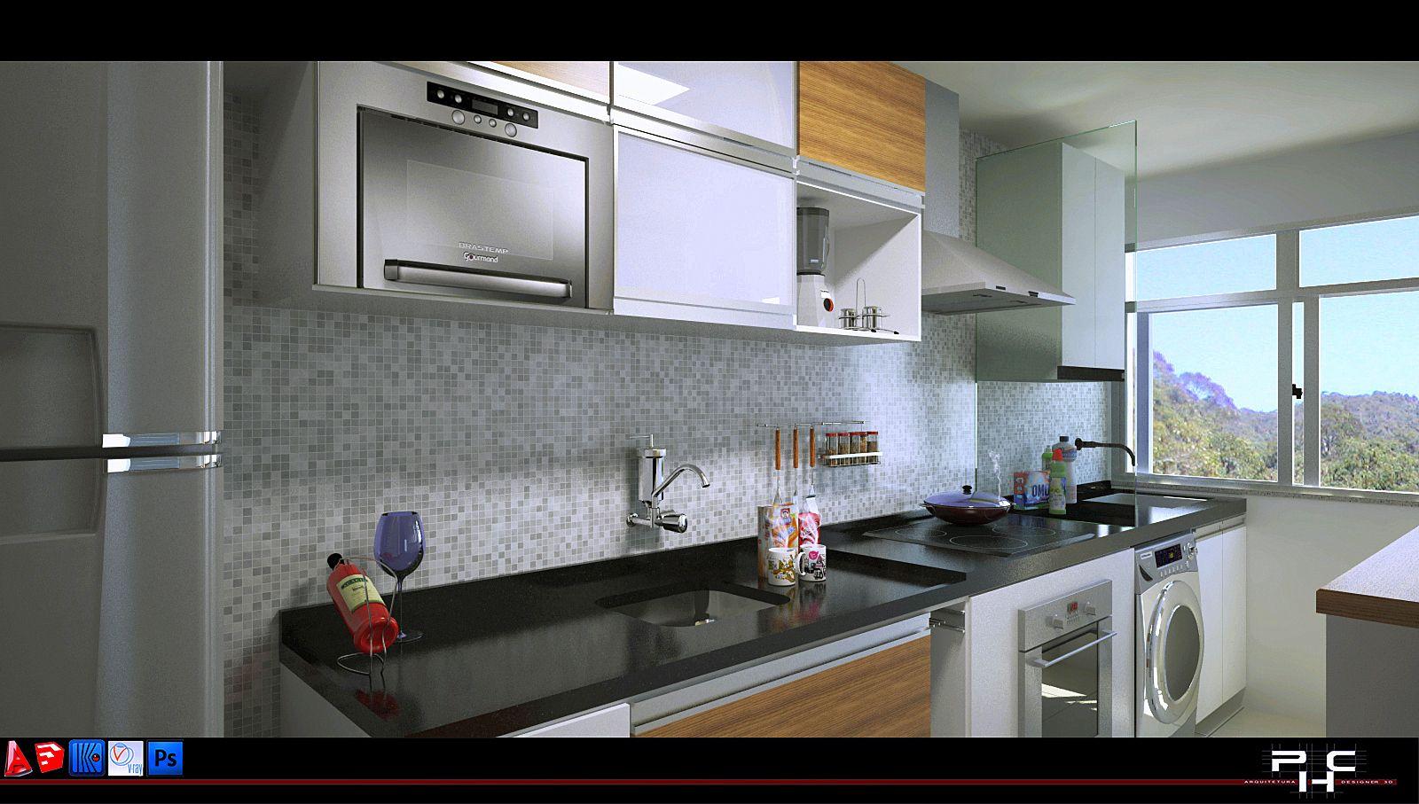 cozinha pequena corredor - Pesquisa Google Decora??o ...