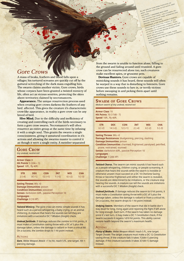 Monster Manual Page Template D D Dungeons And Dragons Dungeons And Dragons Homebrew Dnd
