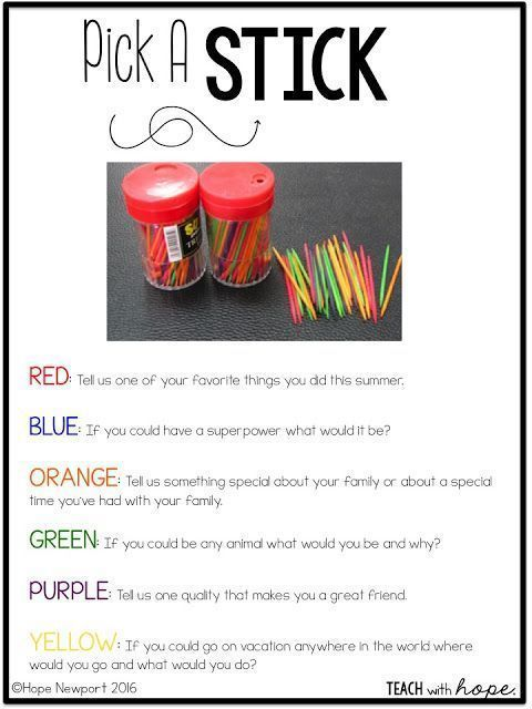 Know You Games for the First Weeks of School Today I am brining you the perfect combination of back to school ice-breakers and games for those first days of school! Back to school is a crazy time and we all want to hit the ground running. There are routines and procedures to teach and we are ready to get to them the second those kids walk in t...