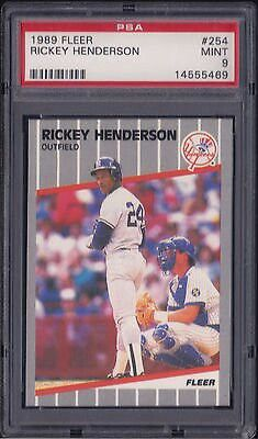 Rickey Henderson New York Yankees Baseball Cards