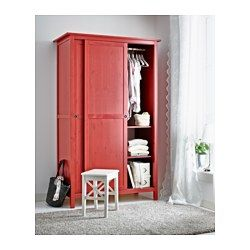 Hemnes Wardrobe With 2 Sliding Doors Red Ikea Apartment
