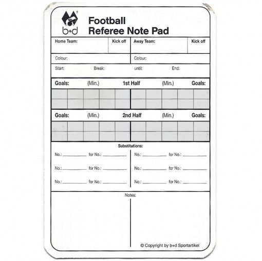 Referee Match Report Card Report Card Template Football Referee Baseball Card Template