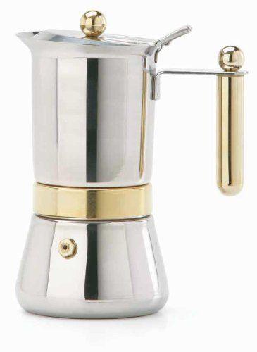 Vev Vigano 8152 Vespress Gold 2 Cup Coffee Pot Espresso