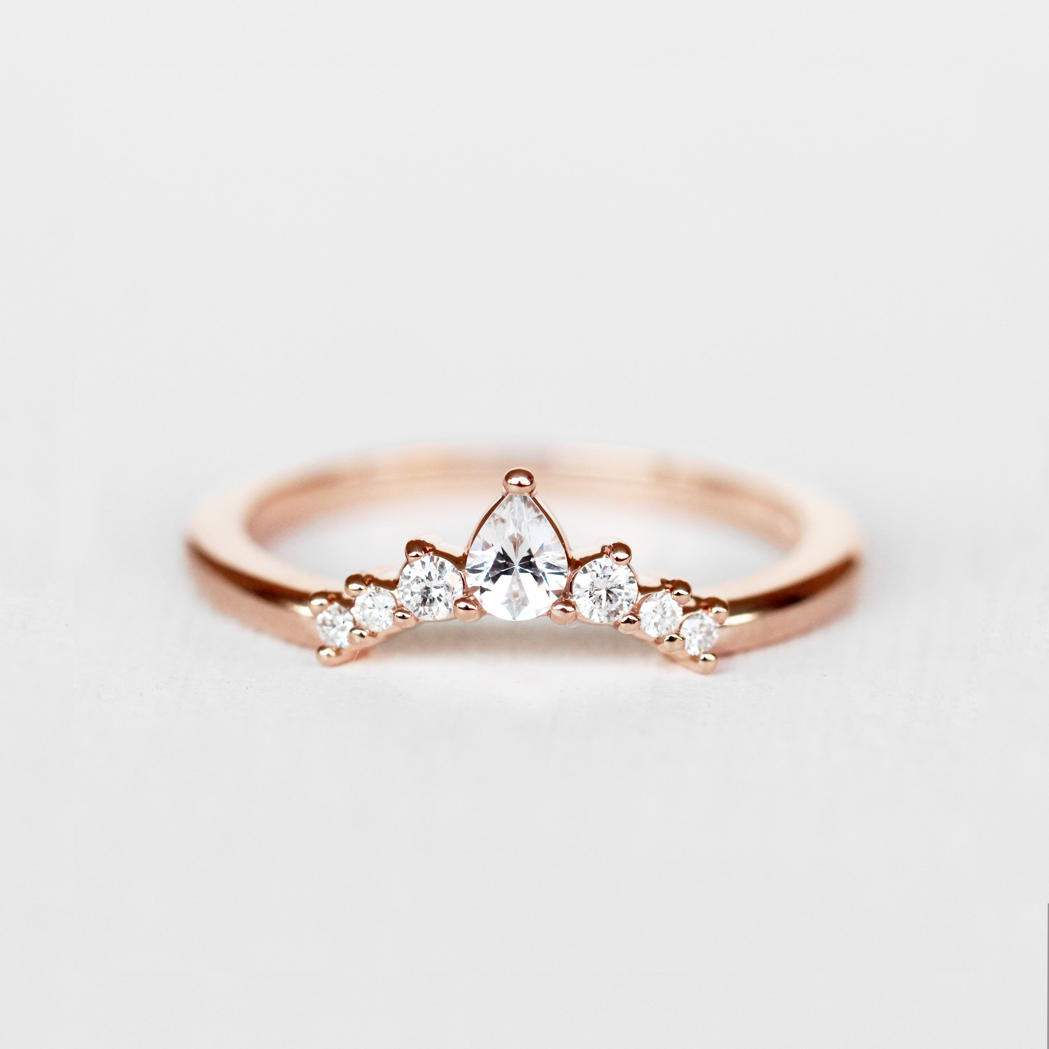 Moira Contoured Diamond Wedding Stacking Band Made To Order Topaz Engagement Ring Silver Crystal Earrings Gold Wedding Rings