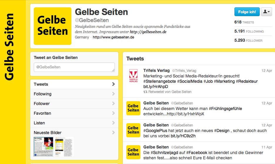 Gelbe Seiten auf #Twitter #gelb #lokal #Verzeichnis