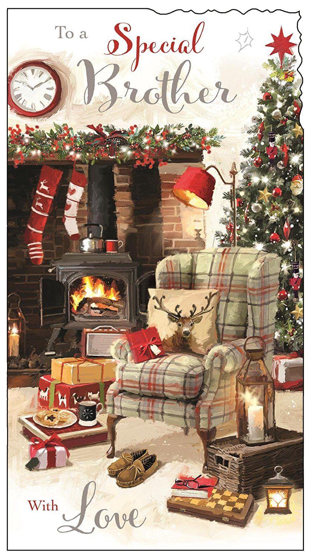 Merry Xmas Snow Traditional Husband Christmas Traditional Uk Greetings Card