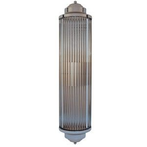 Art Deco Bathroom Wall Sconces classic deco style - wide version of our line of glass sconces