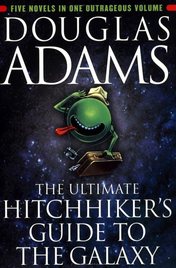 The Hitchhikers Guide To The Galaxy Trilogy Douglas Adams Guide To The Galaxy Hitchhikers Guide To The Galaxy Galaxy Book